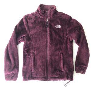 North Face fleece maroon/purple jacket